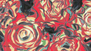Artography Digital Art Prints - Romance Reds Print by Jayne Logan Intveld