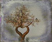 Happy Art Posters - Romance Tree Poster by Cheryl Young