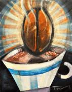 Bistro Paintings - Romancing The Bean by Tim Nyberg