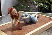 Girl Sculpture Originals - Romantic 2 by Yelena Rubin