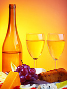 White Grape Photos - Romantic dinner by Anna Omelchenko