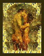 Klimt Digital Art Prints - Romantic Dream Print by Kurt Van Wagner