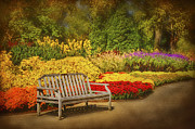 Cheekwood Prints - Romantic Flower Garden  Print by Cheryl Davis