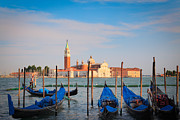 Piazza San Marco Prints - Romantic Gondolas Print by Inge Johnsson