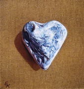 Heart Stone Art - Romantic heart by Elena Kolotusha