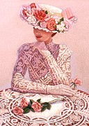 Lace Posters - Romantic Lady Poster by Sue Halstenberg