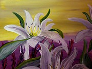 Silver Moonlight Paintings - Romantic Spring by Mark Moore