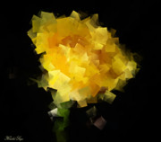 Passionate Paintings - Romantic Yellow Rose by Khalid Saqr