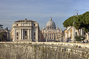 Basilica Photos - Rome - St. Peters Basilica by Joana Kruse
