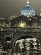 Night Pastels - Rome at night by Rita Bandinelli