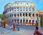 Rome Painting Prints - Rome Colosseum Print by Ylli Haruni