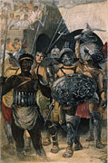Roman Sport Framed Prints - Rome: Entry Of Gladiators Framed Print by Granger