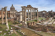 Ancient Ruins Prints - Rome Forum Romanum Print by Joana Kruse