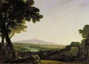 Villa Prints - Rome from the Villa Madama  Print by Richard Wilson