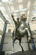 Major Photos - Rome Italy. Capitoline Museums Emperor Marco Aurelio by Bernard Jaubert
