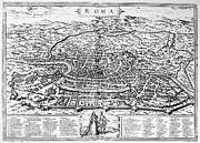 1576 Prints - Rome: Map, 1576 Print by Granger