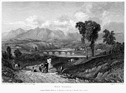 Mountain Road Prints - Rome: Milvian Bridge, 1833 Print by Granger
