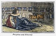 Rome: Perpetua & Felicitas Print by Granger