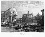 1833 Framed Prints - Rome: Ponte Rotto, 1833 Framed Print by Granger