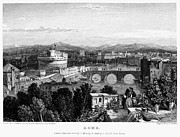 1833 Photo Framed Prints - Rome: Scenic View, 1833 Framed Print by Granger
