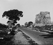 1950s Candids Photos - Rome, Surfaced Appian Way, As A Modern by Everett