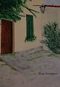 Villa Paintings - Rome Villa by Teresa Farris-Dacar