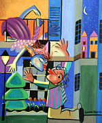 Original Oil Mixed Media - Romeo And Juliet by Anthony Falbo