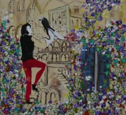 Romeo And Juliet Paintings - Romeo and Juliet. by Sima Amid Wewetzer