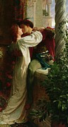 Romance Painting Prints - Romeo and Juliet Print by Sir Frank Dicksee