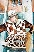 Checks Prints - Romes Chesnut Man Print by Mindy Newman