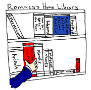 Library Drawings - Romneys Home Library by Michael Mooney