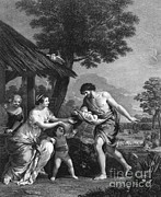 Given Prints - Romulus And Remus Given Shelter Print by Photo Researchers