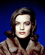 Eyeliner Framed Prints - Romy Schneider, Circa 1960s Framed Print by Everett