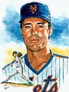 Mets Paintings - Ron Darling by Tom Hedderich