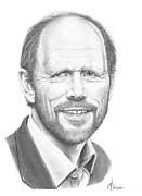 Famous People Drawings - Ron Howard by Murphy Elliott