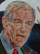The President Of The United States Paintings - Ron Paul by Alex Krasky