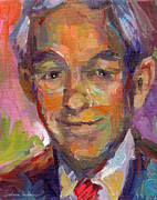 Political Drawings Prints - Ron Paul art impressionistic painting  Print by Svetlana Novikova