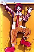 Mcdonalds Paintings - Ronald McDonald  by Cristopher