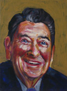 Republican Painting Prints - Ronald Reagan Print by Buffalo Bonker