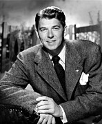 1950s Portraits Photo Metal Prints - Ronald Reagan, From Shes Working Her Metal Print by Everett