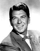 Bowtie Metal Prints - Ronald Reagan In The 1950s Metal Print by Everett