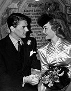 Reagan Framed Prints - Ronald Reagan, Jane Wyman Framed Print by Everett