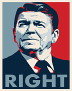 Ronald Reagan Posters - Ronald Reagan Poster by John L