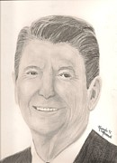 Ronald Reagan Drawings Prints - Ronald Reagan Print by Art of the Maverick