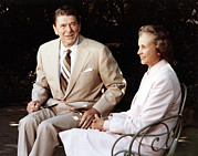 1980s Photo Prints - Ronald Reagan. President Reagan Print by Everett