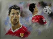 Action Pastels - Ronaldo by Tony Calleja