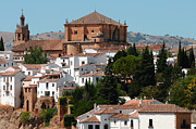 Old Houses Metal Prints - Ronda. Andalusia. Spain Metal Print by Jenny Rainbow