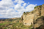 Andalucia Metal Prints - Ronda Cliffs in Andalusia Metal Print by Artur Bogacki