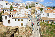 Pueblo Blanco Metal Prints - Ronda Town in Andalusia Metal Print by Artur Bogacki