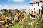 Pueblo Blanco Metal Prints - Ronda Town in Spain Metal Print by Artur Bogacki
